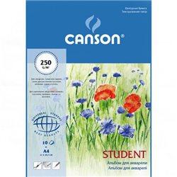 Альбом для акварели Student A4, 250 г/м2, 10 л.