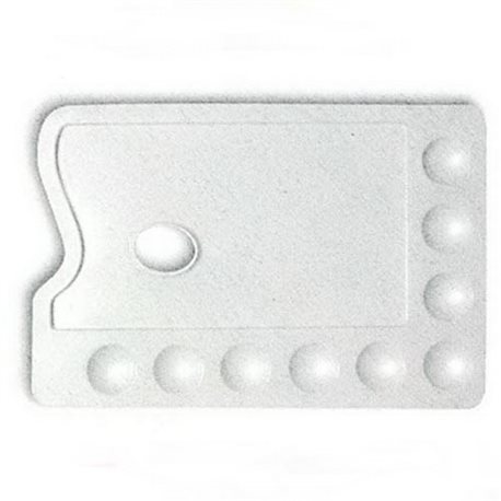Палитра пластиковая 22х30 см. с 9-ю углублениями