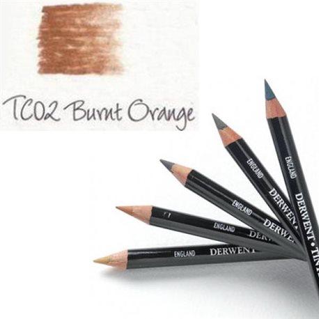 Карандаш угольный тонированный TC02 /Оранжевый жженый