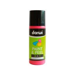 Краска трансфертная Paint & Peel/ Темно-красная 80 мл