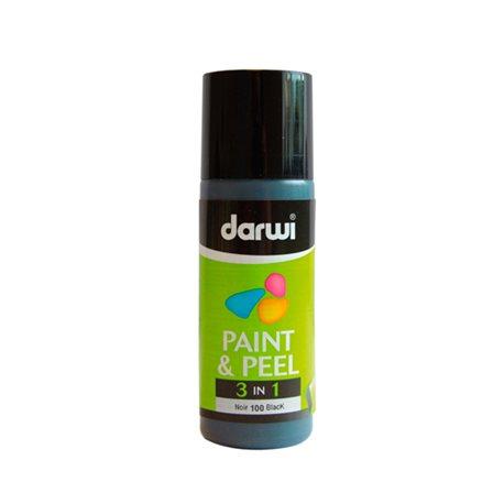 Краска трансфертная Paint & Peel/ Черная 80 мл