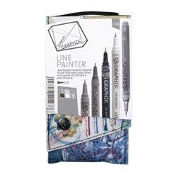 Набор из 5 м/лайнеров GRAPHIK Line painter / Палитра 04