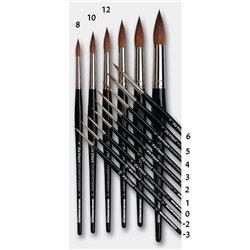 Кисть круглая Da Vinci 36/красный колонок/шестигран. ручка/№ 3