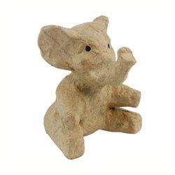 Слоненок/ папье-маше/ 8х7,5х10 см