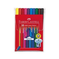 Фломастеры в футляре GRIP Faber Castell 10 цв.
