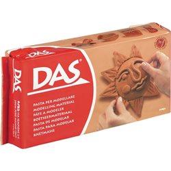 Паста для моделирования Das 500 гр. терракотовая