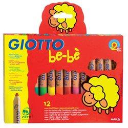 Набор Деревянные карандаши с точилкой 12 цв GIOTTO BEBE Super Largepencils