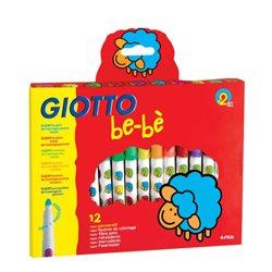 Фломастеры c толстым стержнем GIOTTO BEBE Super Fibre Pens 12 цв.