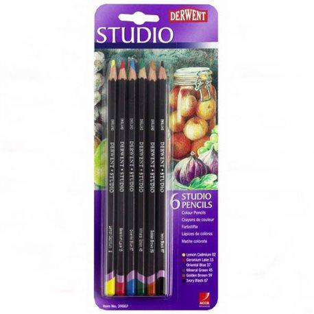 """Набор цветных карандашей """"STUDIO""""/6шт/в блистере"""