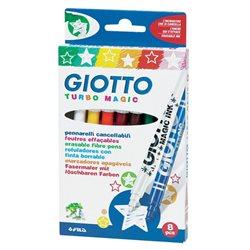 Фломастеры магические с поглотителем цвета GIOTTO TURBO MAGIC 8 цв.