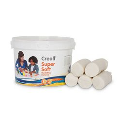 Пластилин, супермягкийCreall SuperSoft Havo/ Белая 1750 гр