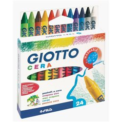 Восковые карандаши GIOTTO CERAI 24 цв.