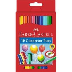 Фломастеры с клипом в картонной коробке Faber Castell 10 цв.