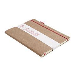 Блокнот SenseBook Red Rubber L/ 20,5х28,5 см/ A4,эскизный, 158 страниц