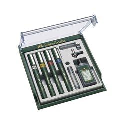 Технический набор рапидографы TG1-S с аксесуарами в пластмассовой коробке 4шт