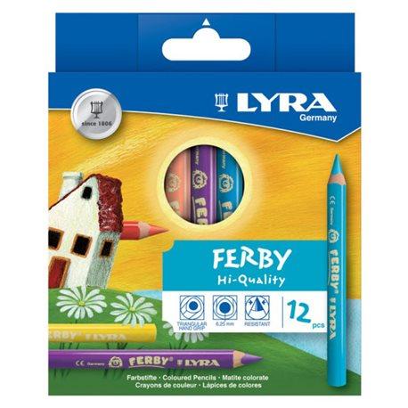 Цветные карандаши 12 цв. Lyra Ferby утолщ.