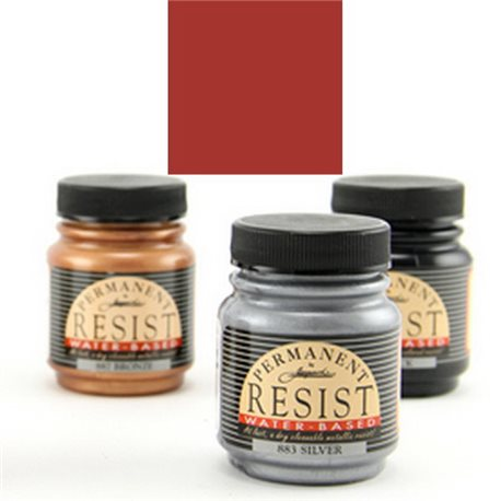 "Контурная перламутр. краска ""Permanent Metallic Resist "" красновато-коричневая"