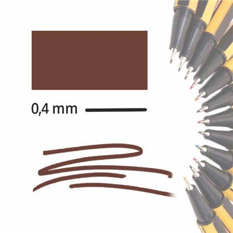 Маркер-лайнер КОРИЧНЕВЫЙ extra-fine 0,4 мм/ на водн.основе