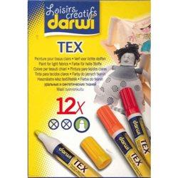 Набор маркеров по текстилю DARWI Tex/ 12 х 6мл