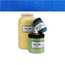 """Нерастекающаяся металлическая краска по тканям """"Lumiere"""" жемчужно-голубая"""