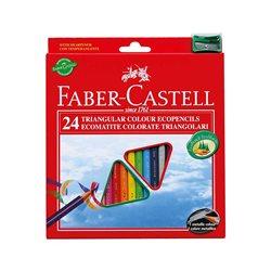 Набор цветных карандашей 24 цв ECO с точилкой в картонной коробке,