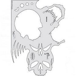 Трафарет ЧЕРЕП (Craig Fraser Course of Skull Master)