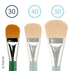 Флейц из синтетики овальной №30/коротк. зелен. ручка