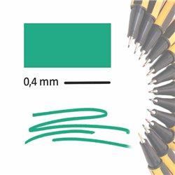 Маркер-лайнер БЛЕДНО-ЗЕЛЕНЫЙ extra-fine 0,4 мм/ на водн.основе