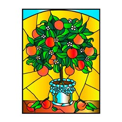 Апельсиновое дерево картина витраж
