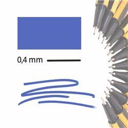 Маркер-лайнер ВАСИЛЬКОВЫЙ extra-fine 0,4 мм/ на водн.основе