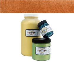 """Нерастекающаяся металлическая краска по тканям """"Lumiere"""" оранжевый жженый"""