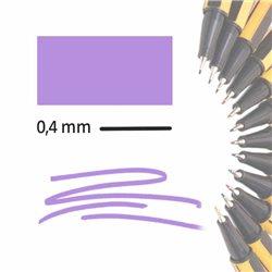 Маркер-лайнер СВЕТЛО-СИРЕНЕВЫЙ extra-fine 0,4 мм/ на водн.основе