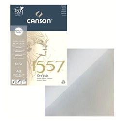 Бумага для набросков (склейка) A3, 50л, 120 гр