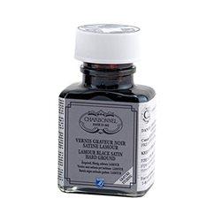 """Грунт офортный чёрный жидкий Lefranc&Bourgeois """"Satin""""/б.75мл"""