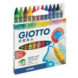Восковые карандаши GIOTTO CERAI 12 цв.