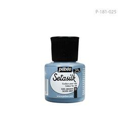 """Растекающаяся краска по светл. тканям """" SETASILK """" Серебристо-серый/45мл"""