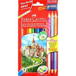 Набор цветных карандашей 15 цв ECO с точилкой в картонной коробке,