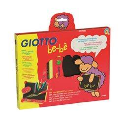 Набор для рисования мелом GIOTTO be-be Bucket доска, набор мелков, держатель для мелка, губка -стиратель