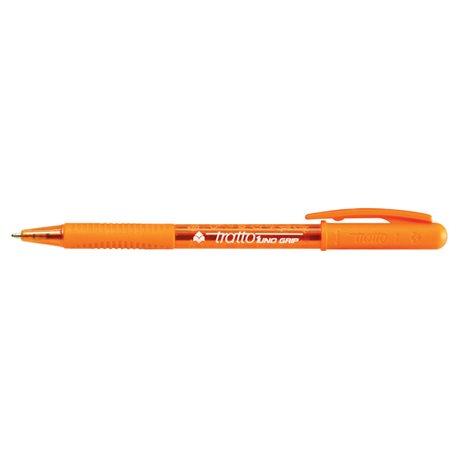 Шариковая ручка с поворотным механизмом и прорезиненной зоной захвата 1 мм.Tratto 1 Clip