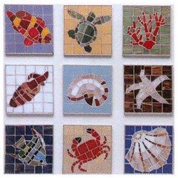 """План рисунка для набора мозаики """"Подставка"""" (100х100 мм)"""