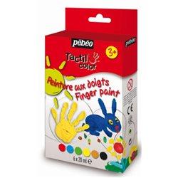 Набор пальчиковых красок TACTILCOLOR блистер, 6х20 мл