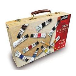 Набор акриловых красок д/начинающих Studio Acrylics в кейсе из бамбука