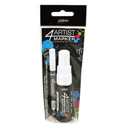 Набор масляных маркеров 4ARTIST MARKER/ Белые, 2 шт, 2 и 8 мм