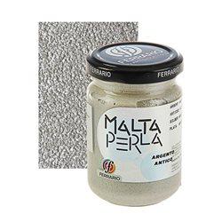 """Паста перламутровая Ferrario """"Malta Perla"""" №01-античное серебро/б.150мл"""