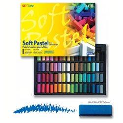 Пастель сухая мягкая квадратная профессиональная 1/2 длины 64 цвета в картонной коробке