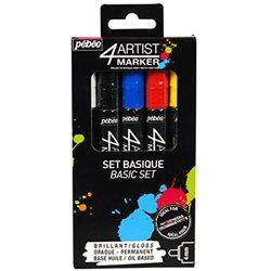 Набор масляных маркеров 4ARTIST MARKER/ Базовый, 5 цв, 4 мм