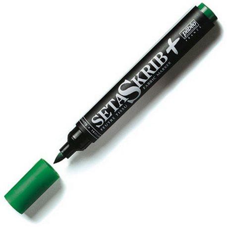 Маркер для ткани кисточн./Setacrib+/зеленый