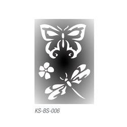 "Трафарет для тату ""Бабочки"" 7х10 см"