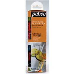 Набор красок по стеклу Pebeo Vitrea 160/Discov KIT 6х20 мл
