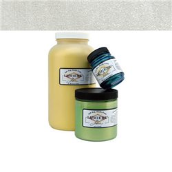 """Нерастекающаяся металлическая краска по тканям """"Lumiere"""" жемчужно-белая"""